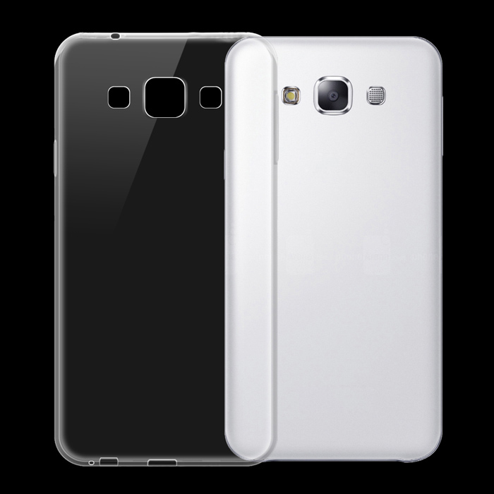 Ultra-thin TPU Back Cover Case for Samsung Galaxy E5 - Transparent