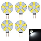 G4 5W 180lm 15-SMD 5630 LED 6500K Cool White Light Car Lamp (5PCS )
