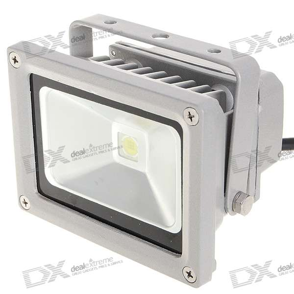 10W 7000K 900LM High Powered Flood Light/Projection Lamp (100~265V)
