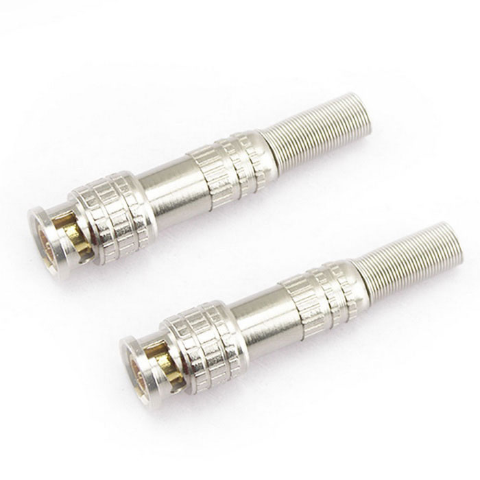 7x1.4cm Aluminum Alloy CCTV Power Connectors Set - Silver + Golden