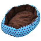 Dotted Octangle Foldable Pet Bed for Cat / Dog - Blue + Brown
