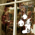 Christmas Snowman Removable Wall Glass Sticker Decal - White