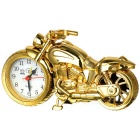Cool Motorcycle Style Electronic Desk Clock / Alarm Clock - Golden (1 x AA)