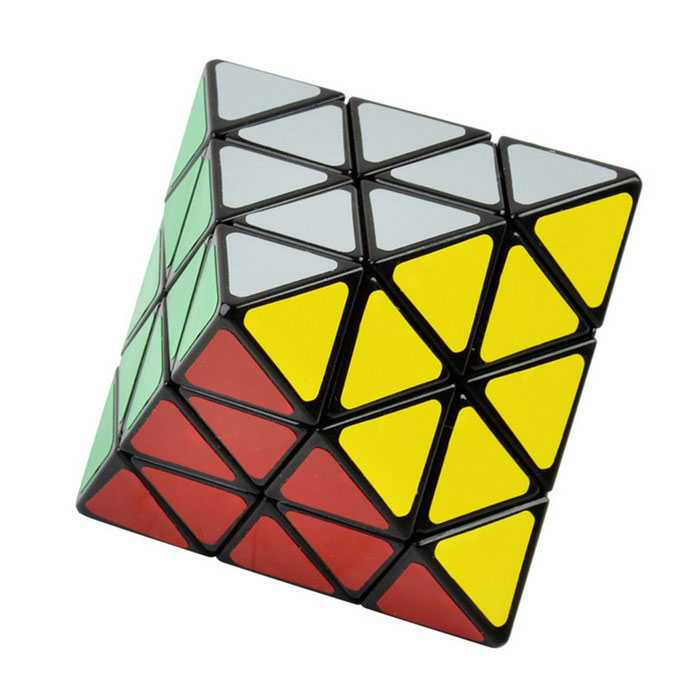 7cm 8-Axis Octahedron Style Magic Cube - MulticolorMagic IQ Cubes<br>Form  ColorBlack + Red + Multi-ColoredMaterialABSQuantity1 DX.PCM.Model.AttributeModel.UnitTypeOthersSuitable Age 8-11 years,12-15 years,Grown upsCertificationCEOther FeaturesMagic cube color: Black.<br>Stickers color: 8, white, blue, red, yellow, orange, purple, grey and green.Packing List1 x Magic cube<br>