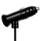 Jtron 12~24V Two Socket Dual USB Cigarette Lighter Car Charger - Black