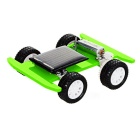 DIY Assembling Educational Solar Powered Car Toy - Green + Black