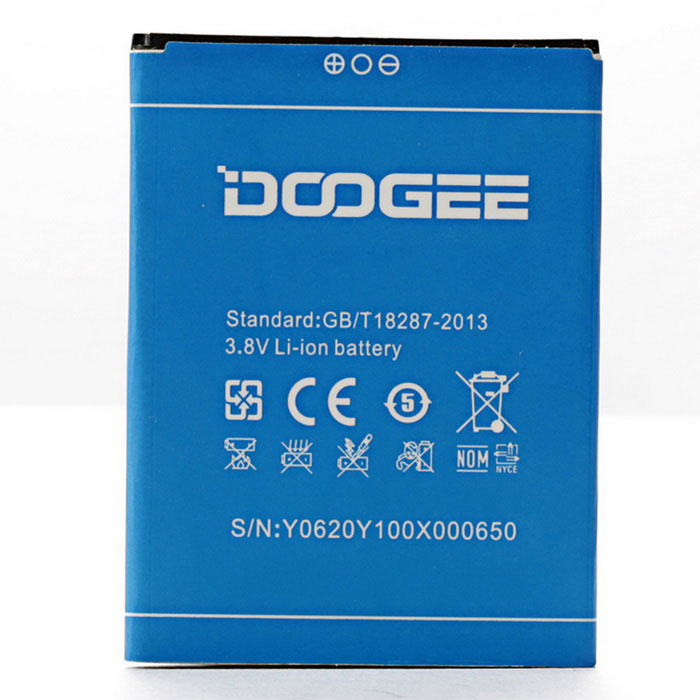 DOOGEE Rechargeable Replacement 2200mAh 3.8V Li-ion Battery for DOOGEE NOVA Y100X - Blue