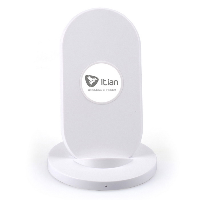 Itian 3-Coils Qi Wireless Charger + Receiver for Samsung Note4 - White