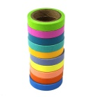 Office DIY Decoration Sticker Hand Color Stationery Paper Adhesive Tape (5m / 10PCS)