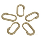 Outdoor U Style Carabiner for Cycling / Travel - Mud Color (5PCS)