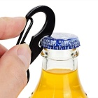 FURA Outdoor D Style Carabiner w/ Keyring for Cycling / Travel - Black