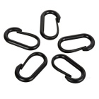 Outdoor U Style Carabiner for Cycling / Travel - Black (5PCS)