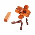 Educational Toy Wooden Interlock - Wood Color + Brown