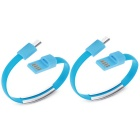 Micro USB Bracelet Data Charging Line Cable for Cellphone Android - Blue (2PCS / 16.9cm)