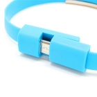 Micro USB Bracelet Data Charging Cable - Blue (2PCS / 16.9cm)