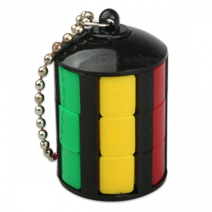 Mini Slider Keychain Style Little Magic Tower Cube Puzzle Toy - BlackMagic IQ Cubes<br>Form  ColorBlack + MulticolorMaterialABSQuantity1 DX.PCM.Model.AttributeModel.UnitTypeOthers,N/ASuitable Age 5-7 years,8-11 years,12-15 years,Grown upsPacking List1 x Cube<br>