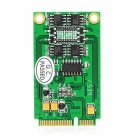 IOCREST Mini PCI-E to 4-Port RS422 / 485 Serial Port Card - Green