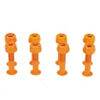26mm Skateboard Longboard Screws Bolts Set - Orange ( 8 PCS / Set ) - Other Sports Gadgets Sports and Outdoors