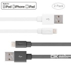 Yellowknife 8pin Lightning to USB Cable - White + Grey (2PCS, 1.5m)