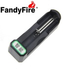 FandyFire 18650 Li-ion Battery Smart Charger - Black (US Plugs)