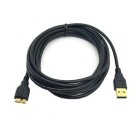 CY U3-129-BK-3.0M 3m Long Black USB 3.0 A Male to Micro B Male data charge cable for Galaxy Note3