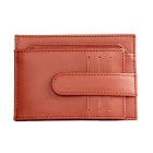 Men's Multifunctional Retro Genuine Leather Card Holder Money Cash Clip Mini Wallet - Brown