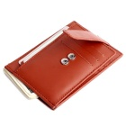 Men's Multifunctional Genuine Leather Card Holder Cash Wallet - Brown