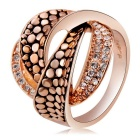 Xinguang Twisted Crystal Ring - Rose Golden