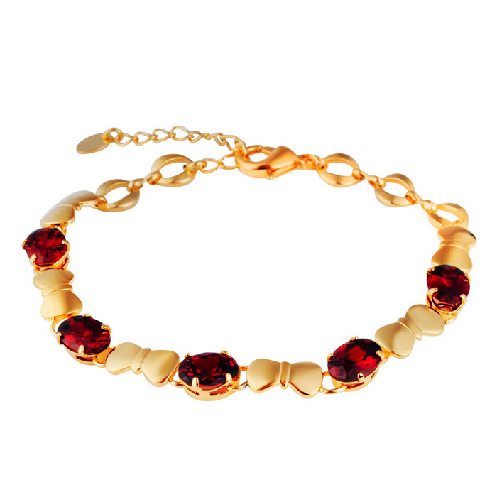 Xinguang Butterfly Knot Stitching Crystal Bracelet - Golden