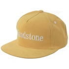Unisex Fashionable Embroidered Hip-Hop Baseball Flat Peak Cap Hat - Yellow