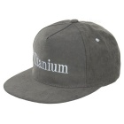 Unisex Fashionable Embroidered Hip-Hop Baseball Flat Peak Cap Hat - Grey
