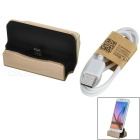 Universal Micro USB 5-Pin Phone Charging Dock Station for Samsung / Xiaomi & More - Golden + Black