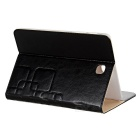 "Protective PU Case w/ Stand for 8"" Samsung TAB S2 T710 / T715 - Black"
