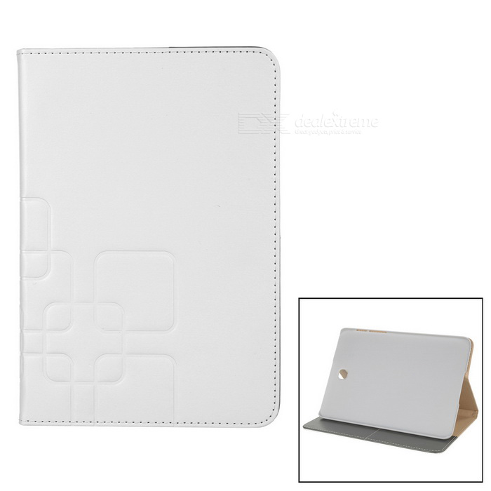 "Protective PU Case w/ Stand for 8"" Samsung TAB S2 T710 / T715 - White"