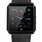 "RWATCH R6S 1.6"" Genuine Leather Watchband Smart Bluetooth Watch w/ Camera Remote, Pedometer - Black"