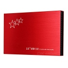 "Ultra-Thin Aluminum Alloy USB 3.0 to 2.5"" SATA HDD Hard Drive Disk Enclosure Case - Red"