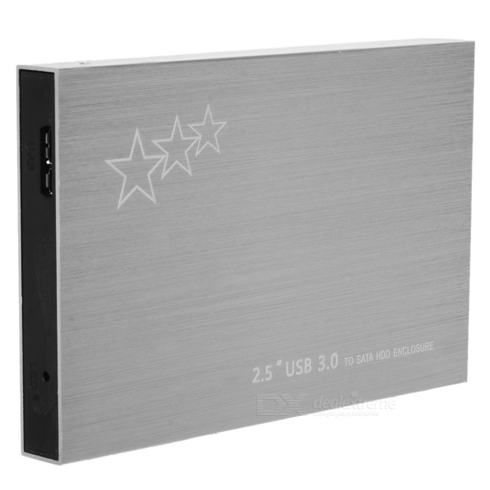 "USB 3.0 to 2.5"" SATA HDD Hard Drive Disk Enclosure Case - Silver"