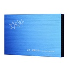 "Ultra-Thin Aluminum Alloy USB 3.0 to 2.5"" SATA HDD Hard Drive Disk Enclosure Case - Deep Blue"