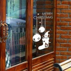 Removable Christmas Wall Window Glass Decor Sticker Decal - White