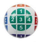 3x3x3 Numeral Ball Style Magic Cube Puzzle Toy - White + Multi-Color