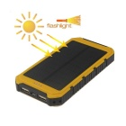 Multifunction Dual USB 5000mAh Li-polymer External Mobile Power Bank - Yellow + Black