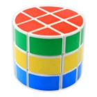 3x3x3 Cylindrical Magic Cube Educational Puzzle Toy - White + Multicolored