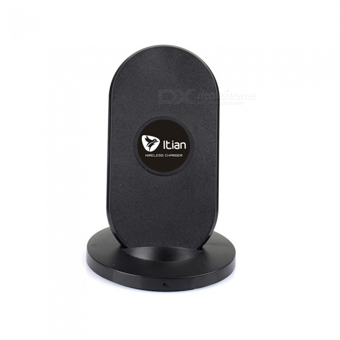 Itian 3-Coils Qi Wireless Charger + Receiver for Samsung Note4 - Black
