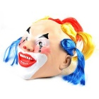 Japanese Geisha Style Rubber + Clown Mask for Cosplay Party - Blue