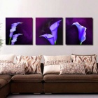 Bizhen Home Decoration Wall Art Picture Canvas Printed Oil Paintings Set w/o Frame - Purple