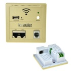 Wall Embedded Wireless AP Router Wireless Wi-Fi USB Charging Socket Panel