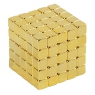 5mm 5x5x5 Neodymium Magnet Cube DIY Puzzle Toy - Golden