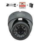 HOSAFE 13MD1G 1.3MP 960P HD IP Camera w/ POE Kit, 24-IR-LED, ONVIF, Motion Detection - Grey