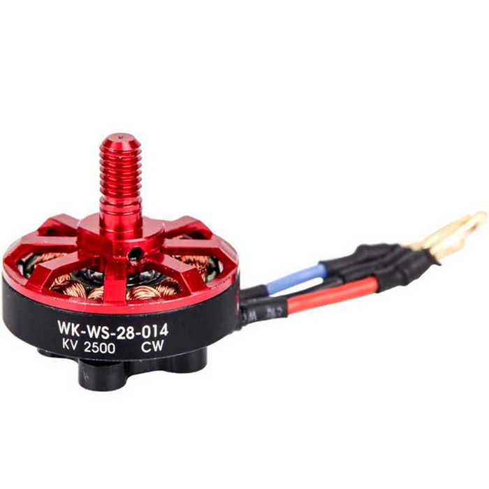 Upgrade Runner 250 Quadcopter Runner 09 Brushless Motor - Red + Black