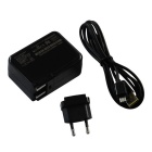 EU Plug Portable Tablet PC Charger for Microsoft Surface 3 - Black